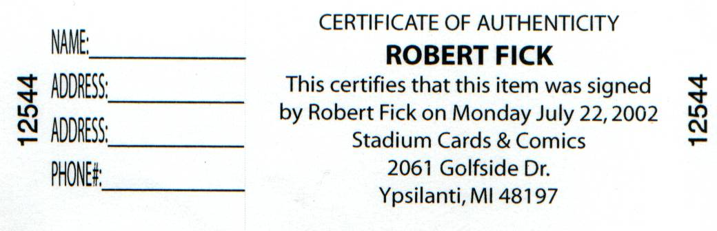 Robert Fick COA