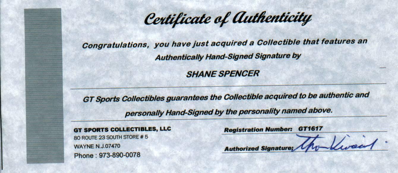 Shane Spencer COA